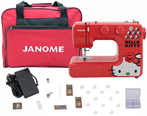Janome 13512 Red Hello Kitty Sewing Machine with Bonuspack! by Janome