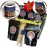 Sandy Mertens Ohio - Cincinnati Skyline at Night - Coffee Gift Baskets - Coffee Gift Basket (cgb_61681_1)