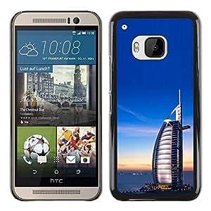 Paccase / SLIM PC / Aliminium Casa Carcasa Funda Case Cover para - Burfi Al Arab Arabic Architecture - HTC One M9
