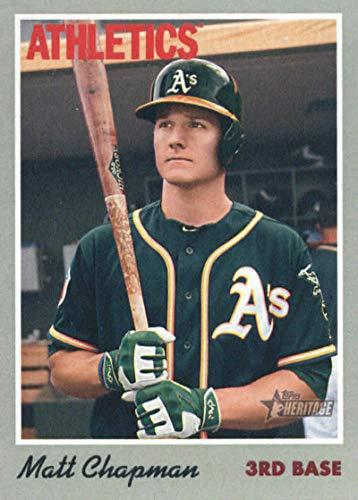 (2019 Topps Heritage #120 Matt Chapman Oakland Athletics Baseball Card)