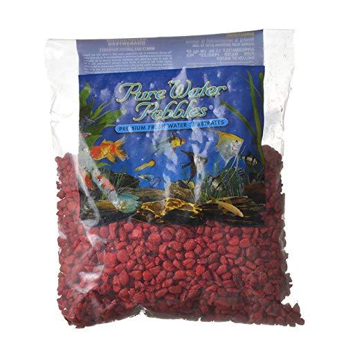 Pure Water Pebbles Aquarium Gravel, 2-Pound, Currant Red