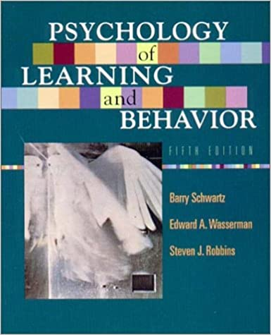 Amazon psychology of learning and behavior fifth edition amazon psychology of learning and behavior fifth edition 9780393975918 steven j robbins barry schwartz edward a wasserman books fandeluxe Choice Image
