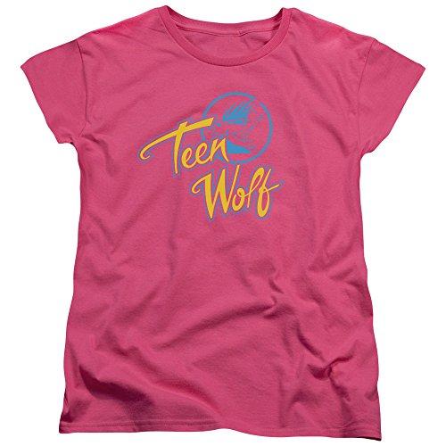 Women's Pink Teen Wolf Classic 80s Logo