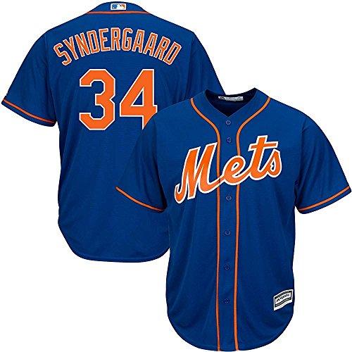 Majestic Noah Syndergaard New York Mets MLB Youth Royal Blue Alternate Cool Base Replica Jersey (Youth Small (Royal Youth Mlb Replica Jersey)