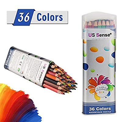 36 Colored Watercolor Pencils - Water Soluble Colored Pencils For Art Students & Professionals - Assorted Colors for Sketch Coloring Pages For Kids & Adults - Vibrant Colors For Drawing Books