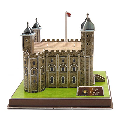 Creative 3D Puzzle Paper Model Tower of London DIY Fun & Educational Toys World Great Architecture Series, 36 (Tower Model)