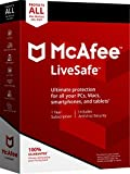 Software : McAfee 2018 LiveSafe