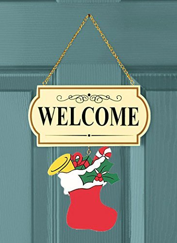 10 Pieces Set Interchangable Multi Holiday Welcome Sign Decoration Wall Hanging Door Festive Plaque Whimsical Decor - 11 1/2
