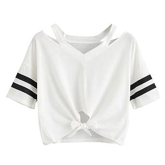 UK Women Casual Cold Shoulder Shirt Top Ladies Short Sleeve Blouse T-Shirt Tee