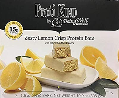 Proti Kind Zesty Lemon Crisp Protein Bars Triple Pack - 21 Servings, 15g Protein Per Serving