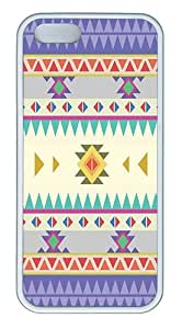 IMARTCASE iPhone 5S Case, Aztec Tribal Pattern Tribal Ethnic Seamless Stripe Case for Apple iPhone 5S/5 TPU - White