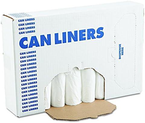 12-16gal 24 x 32 Boardwalk 2432L L-Grade Can Liners Case of 10 Rolls Black .35mil 50 Bags Per Roll