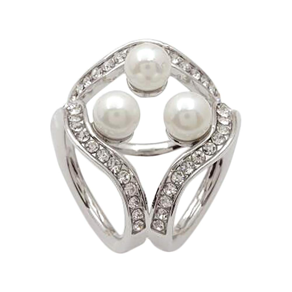 Kentop Une Jolie Echarpe Boucle Bague pour Echarpe avec Diamant de Imitation pour Femme 3.5cm Or