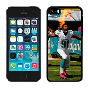 American Football Player Cameron Wake Number-91 03 Black Abstract iPhone 5C Phone Case