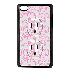 The Funny Design For Pink Power Socket For Ipod Touch 4 Best Durable Case