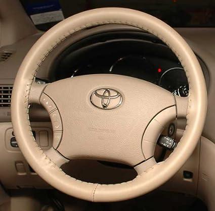 amazon com wheelskins toyota genuine leather sand steering wheel