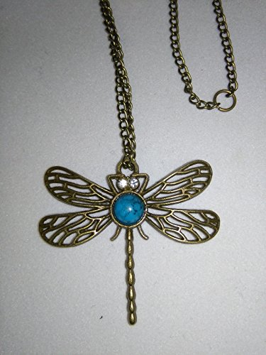 Dragonfly Necklace 24 inch Chain (No Clasp) Slide Over Your Head