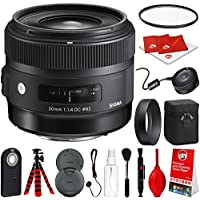 Sigma 30mm f/1.4 Art DC HSM Lens for Canon DSLR Cameras w/ USB Dock Global Vision Bundle