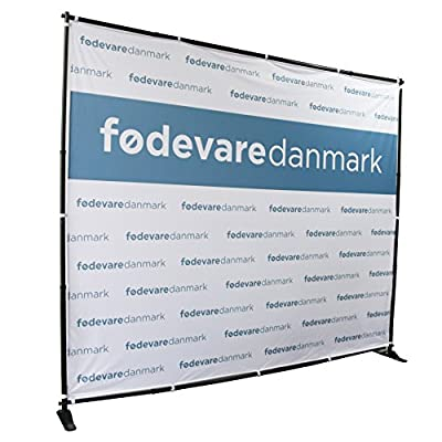 Displayfactory USA Professional Backdrop Banner Stand Large Tube Heavy Duty Telescopic Step and Repeat with Carrying Bag