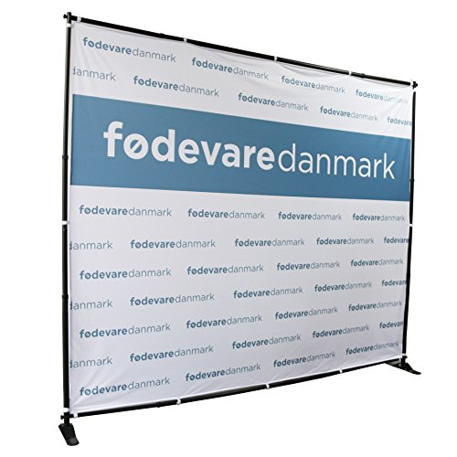 Displayfactory USA 8'x8' Professional Backdrop Banner Stand Large Tube Heavy Duty Telescopic Step and Repeat for Photo Booth Background and Trade Show with Carrying Bag by Displayfactory USA