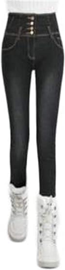 [フ二ンー] レディース デニム ジーンズ ロングパンツ ゆったり ワイドパンツ デニム ポケット付き カジュアル 体型カバー 大きいサイズ 裏起毛 厚手 防寒 暖かい