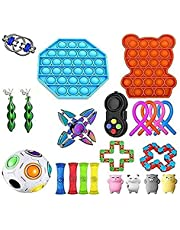Supper Fidget Toys Pack, Sensory Fidget Toy Set Pop It Bubble Stress Relief Toys for Kids Adults,Toddler Educational Fun Toys The Best Most Interesting Children's Gifts