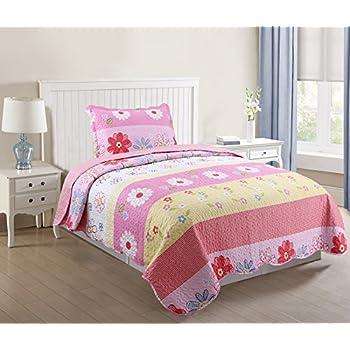 Amazon.com: MarCielo 2 Piece Kids Bedspread Quilts Set Throw ... : bedding quilts kids - Adamdwight.com