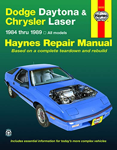 - Haynes Dodge Daytona and Chrysler Laser (84-89) Repair Manual (30030)