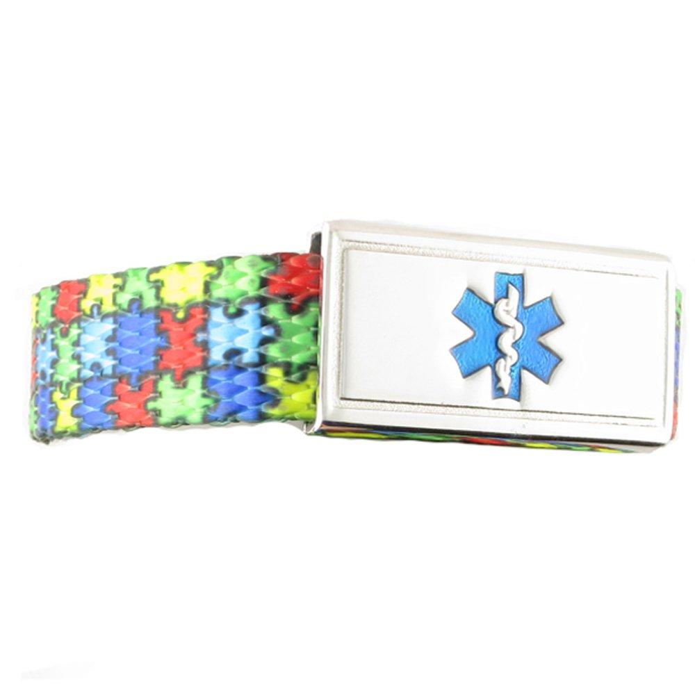 Medical Alert Bracelet for Kids   Many Designs Available   Free Engraving   Children's Medical ID Bracelet - Puzzle