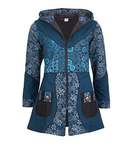 Abrigo para mujer con capucha, de diseño floral, de algodón: Amazon.es: Ropa y accesorios