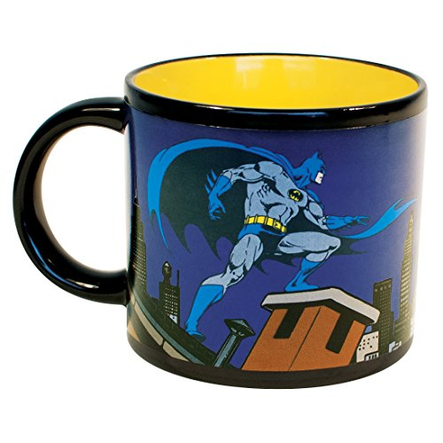 Batman Bat Signal Heat Changing Mug - Add Coffee or Tea and Batman Comes to the Rescue - Comes in a Fun Gift -