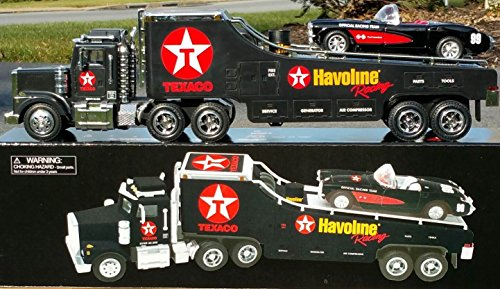 1999 Credit Card TEXACO HAVOLINE Racing TRANSPORT TRUCK with Chevy Corvete Load in 1:32 Scale with Lights & Sound - TMT Production -