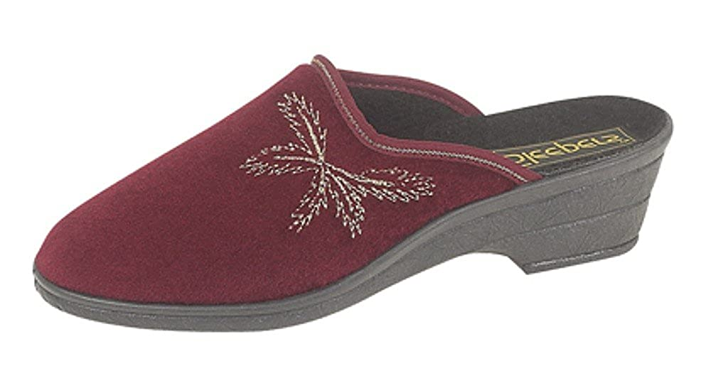 6f0f16808cda Ladies Velour Wedge Heel Mule Slippers  Amazon.co.uk  Shoes   Bags