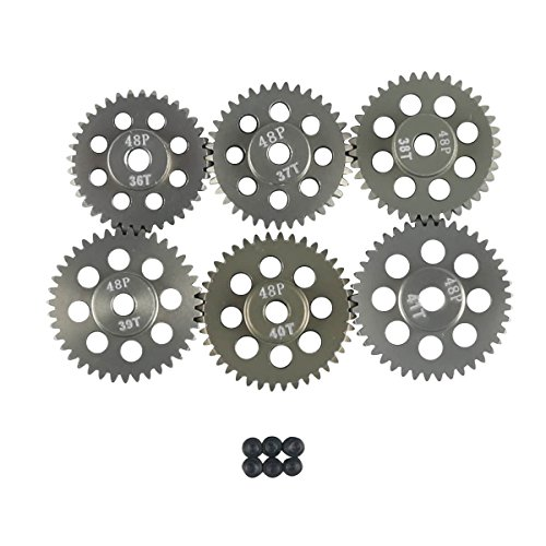 40t Gear (RCRunning 48DP 3.175mm 36T 37T 38T 39T 40T 41T Gear for 1/10 RC Car Brushed Brushless Motor by)