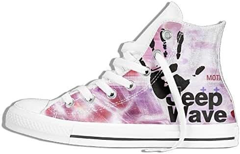 Unisex Jeep Wave Hi-Top Lace Up Canvas Shoes Sneaker