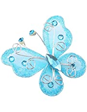 24pcs Christmas Butterfly Ornaments Mesh Wire Glitter Butterfly Wedding Party Clothing Wall Tree Decoration DIY Supplies