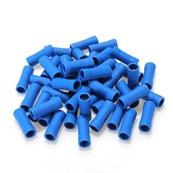 Quetschverbinder Stoßverbinder blau isoliert Kabelverbinder