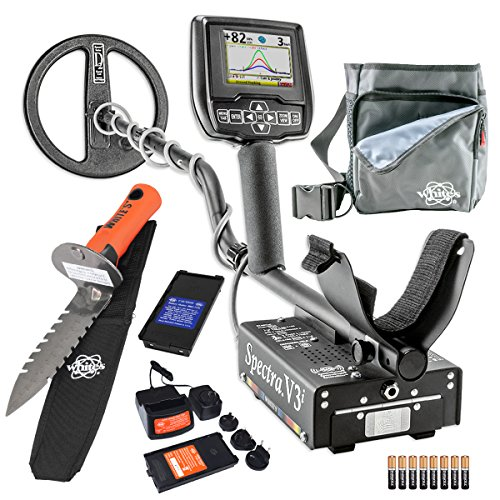 Whites Spectra V3i Metal Detector Diggers Special w/ DigMaster & Utility Pouch by White's Electronics