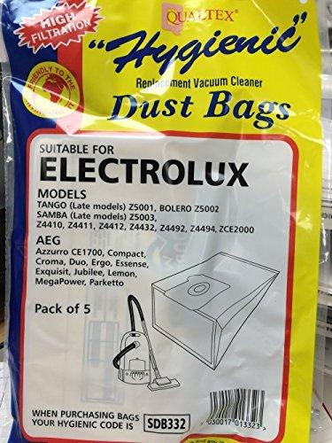 Bolsas de 5 x para aspiradora Electrolux Tango y tarde ...