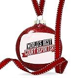 Christmas Decoration Worlds Best Court Reporter Ornament