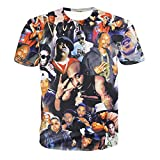 Chiclook Cool Hipster Fashion 3D t Shirt Print Legends of Hip hop 2pac and Snoop Dogg Swag Tops