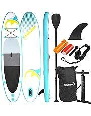 NEMAXX Stand Up Paddle Board PB305 SUP Board opblaasbaar, Surfbord, Surfplank, gemakkelijk te vervoeren, met tas, Peddel, Vin, Luchtpomp, Reparatieset