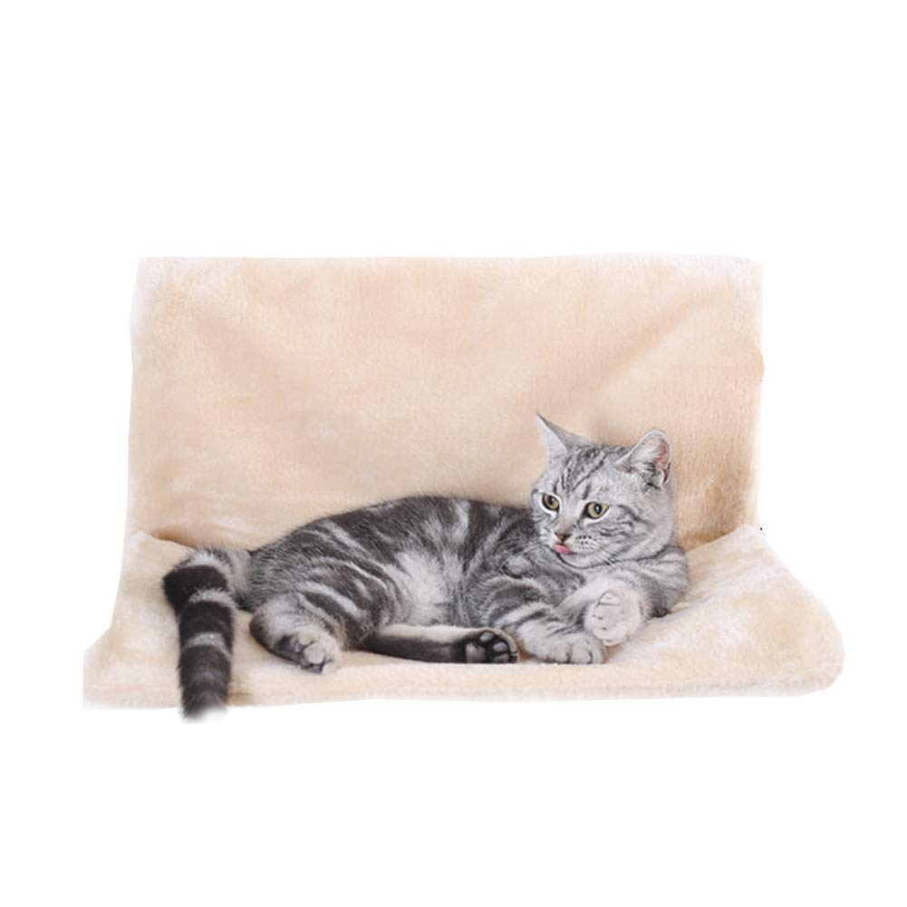 Beige 463025cm Beige 463025cm CHEN. Pet bed hammock hanging bed cat bed four seasons cat house hanging chair removable and washable cat pad cat hammock pet supplies,Beige,46  30  25cm