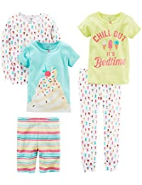 Carter de las niñas '5-Piece algodón snug-fit pijamas