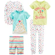 [Sponsored]Carter's Baby-Girl 5-Piece Cotton Snug-Fit Pajamas
