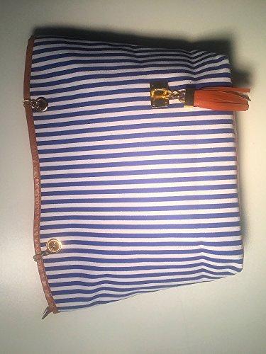 Color Gleader Asa Mujer Moda Azul Hombro Azul Bolsa Cadena Larga para de Bolso xqp40