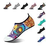 NING MENG Aqua Socks Beach Water Shoes Barefoot Yoga Socks Quick-Dry Surf Swim Shoes for Women Men (Fish, 38/39EU)