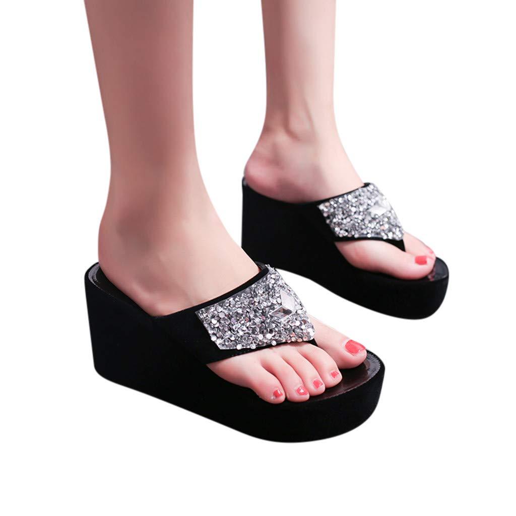 Sandalias con Cu/ña Mujer Verano 2019 SUNNSEAN Tallas Grandes Moda Sandalias de Cu/ña de Verano de Mujeres Sandalia de Moda y Boca de Pez Se/ñoras Zapatos de Playa Ni/ña Calzado Blanco 35-39