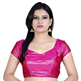 Chandrakala Women's Designer Bollywood Readymade Pink Saree Blouse Padded Brocade Choli (B106PIN3)