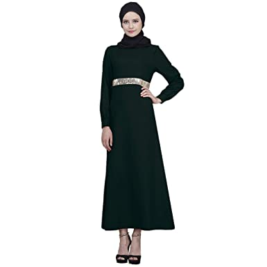 d5e561c71f89 OutTop(TM) Muslim Maxi Dress for Women Islamic Long Sleeve Sequins Abaya  Kaftan Arab